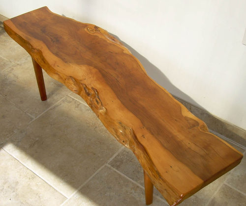Yew Glass Topped Coffee Table: Reynolds Yew Coffee Table