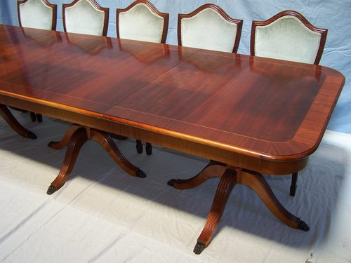 12 seat mahogany dining table 8 chairs antiques atlas for 144 dining table