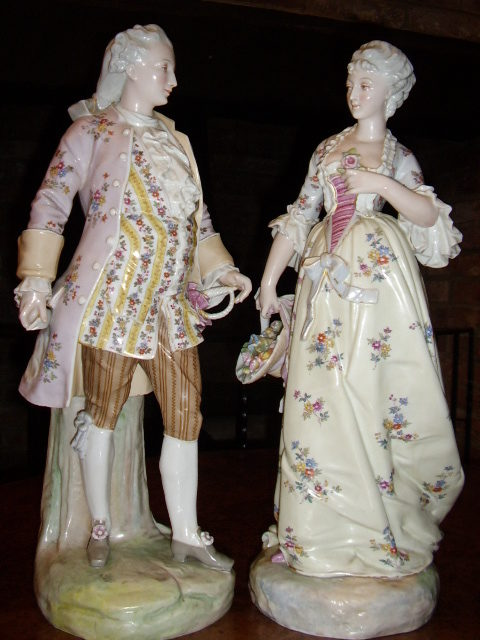 Antiques Atlas Quality Pair Of Continental Figurines
