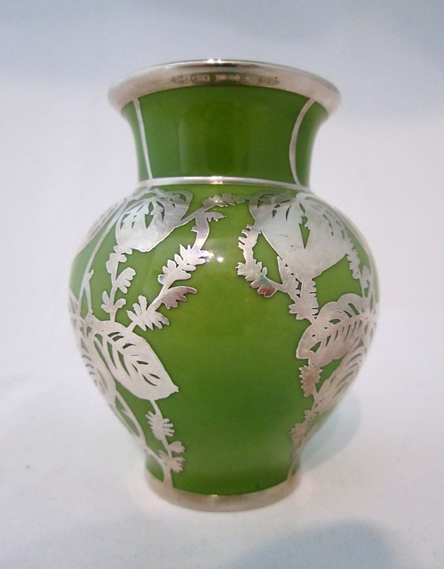 Antiques Atlas Silver Overlay Vase Germany C1930s